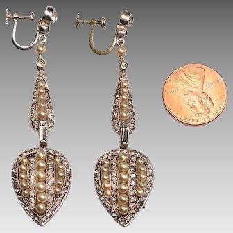 Edwardian Formal Earrings:  Costume