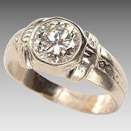 Antique Ring Diamond Solitaire - unisex