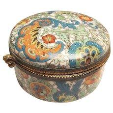 Art Deco Porcelain Trinket Box