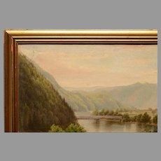1879 Delaware Water Gap Oil Painting