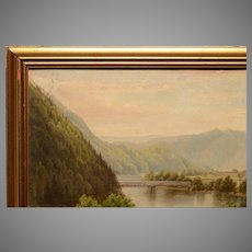 1879 Delaware Water Gap Oil Painting