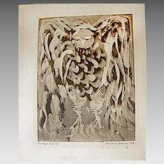 Signed L. Donovan Print:  1966
