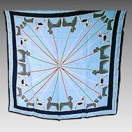 "1950's Jacqmar Scarf ""Walking the Dogs"""