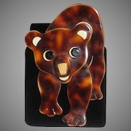 "Signed Lea Stein ""Tom Bear"" Brooch"