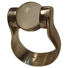 Mid Century Modern Sterling Silver Ring