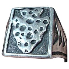 Native American Silver Arrowhead Ring