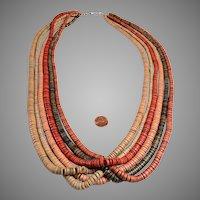 5 Strand Bead Necklace:  gorgeous sun bleach colors