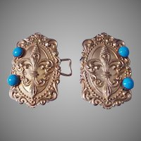 Art Nouveau Gilded Brass Buckle
