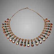 Aurora Crystal 15 inch Necklace 1950's