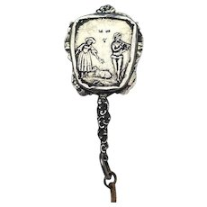 Vintage Chatelaine Mirror:  800 Silver