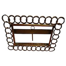 Victorian Brass Chain Link Table Frame