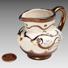 Rare Copper Lustre Pitcher - English