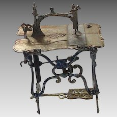 German Doll House Mechanical Sewing Machine