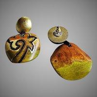 1960's Avant Garde Studio Art Earrings