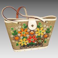Enid Collins Handbag Bright Flowers
