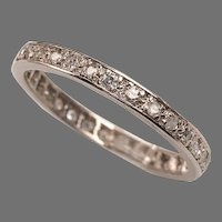 Platinum Diamond Art Deco Eternity Ring