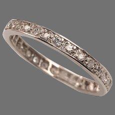 Platinum Diamond Art Deco Eternity Ring