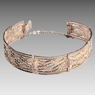 Vintage Silver Filagree Bracelet
