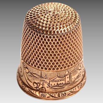 Vintage 14kt Gold Thimble: 4.7 grams
