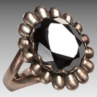 1960's Hematite Stone ring set into sterling silver
