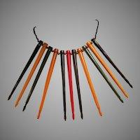 Unique Bakelite Homage to Spratling Javelin Necklace