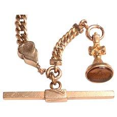 Victorian Watch Chain with MASONIC Watch Fob