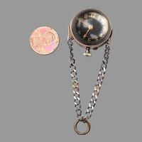 Amazing Gold and Gunmetal Ball Watch - 17j
