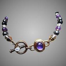 Signed KYLO Semi Precious Bead Necklace