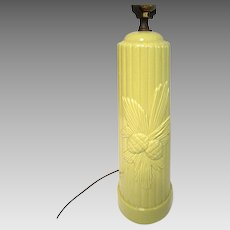 1950's Chartreuse Yellow Table Lamp