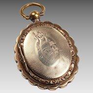 Victorian Keepsake Locket: 12kt gold doors and gold filled body