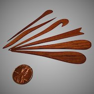 Mid Century Teak Bar Service Accessories - Canapés, Cocktail Fruits