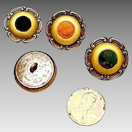 4 French Perfume Buttons: Victorian
