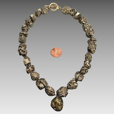 Victorian Style Pyrite Necklace