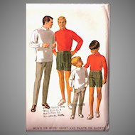 Complete 1968 McCalls Sewing Pattern: men, boys
