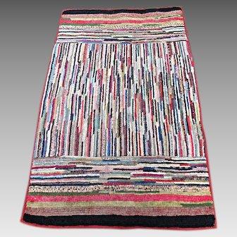 1920's Handmade Rag Rug