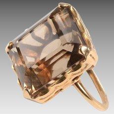 14kt Gold, Smokey Quartz Ring, 1950's