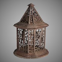1920s Tramp Art Bird Cage