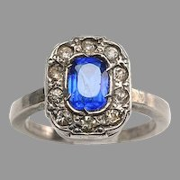 Edwardian Faux Diamonds, Faux Sapphire Ring