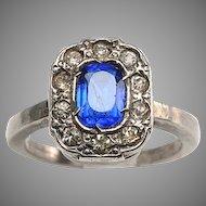 Edwardian Faux Diamonds, Faux Sapphire Ring