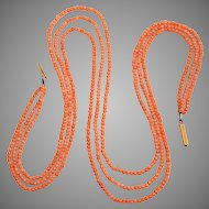 Victoria Triple Strand Coral Necklace