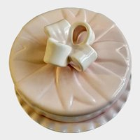 Gorgeous Big Pastel Pink Bow Shabby Chic Cake Plate Destinos S.A. Portugal