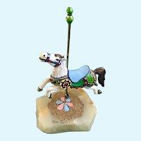 Ron Lee Sculpture Carousel Horse Figurine Quartz Stone
