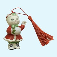 Bronson Collectibles Kitty Cat Christmas Ornament Muffy Figurine