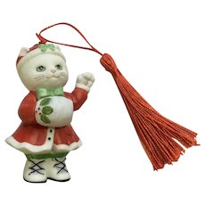 Bronson Collectibles Kitty Cat Christmas Ornament Muffy Figurine Upgraded Tassel 1996 #16