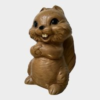 Mid-Century Twin Winton Kitschy Squirrel Piggy Bank, Animal Figurine