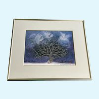 Bob Holloway Angels Singing Christmas Tree Lithograph Print Signed & Numbered