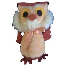 Mid-Century Witty Owl Disney Winnie The Pooh Stuffed Plush Animal Walt Disney Distributing Co.