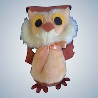 Mid-Century Owl Disney Winnie The Pooh Stuffed Plush Animal Walt Disney Distributing Co.