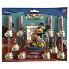 Wilton Happy Birthday Mickey Mouse Disney Club House Candles HTF Set