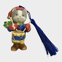 Bronson Collectibles Kitty Cat Christmas Ornament The Drummer Figurine